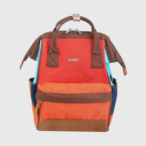ANELLO OS-S056-NOSTALGIC Mouthpiece Small Backpack-ORANGE