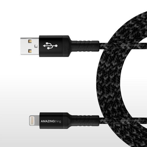AMAZINGthing SupremeLink Lightning Bullet Shield Cable (MFI) Black