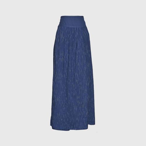 TAYWA - Hand-woven cotton skirt  Free size Indigo