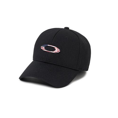 OAKLEY  TINCAN CAP BLACK/AMERICAN FLAG #L/XL