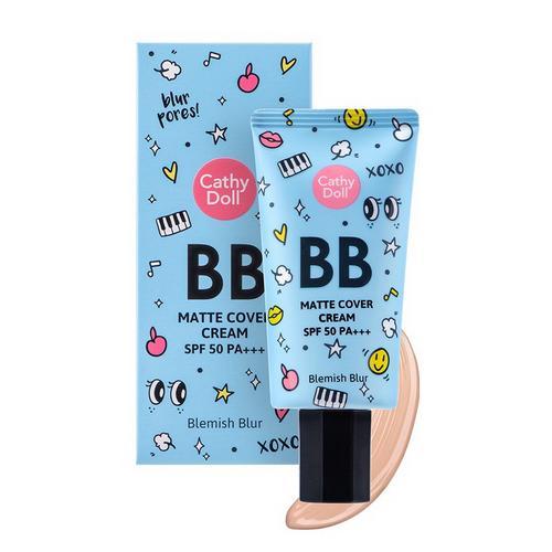 Cathy Doll Matte Cover Blemish Blur BB Cream SPF50 PA+++ 50ml #1 Light Beige