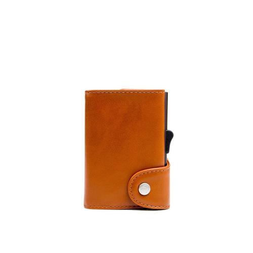 C-SECURE RFID Classic Leather Wallet Chestnut/Brown XL Card holder