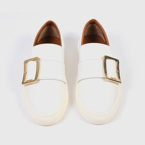 BALLY Women's Heska Slip On Sneakers White-36