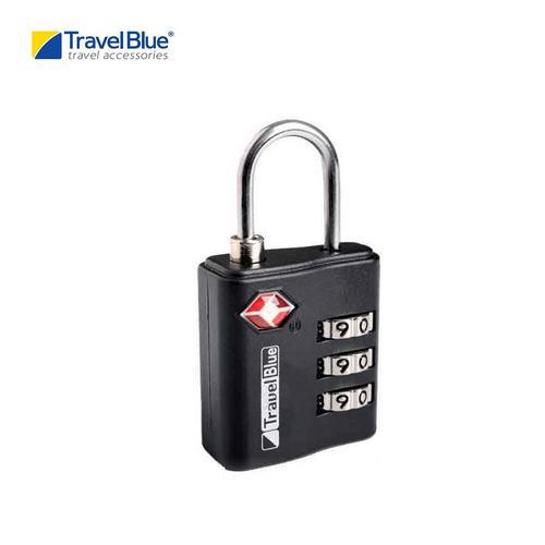 蓝旅 (Travel Blue) TB036BL TSA Approved 手提箱密码挂锁 - 黑色
