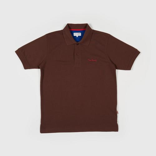 PIERRE CARDIN Polo Shirt - M BROWN