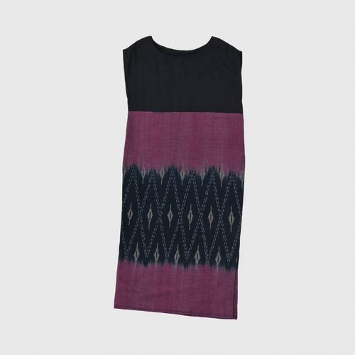 HATTRA V-neck dress continued Size 48 INDIGO