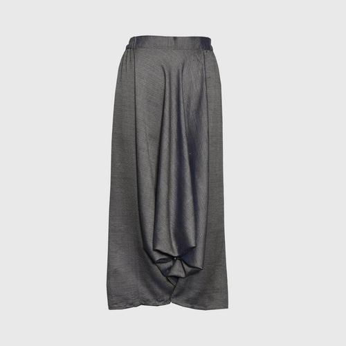 TAYWA - Hand woven cotton pants Free size shrimp paste gray