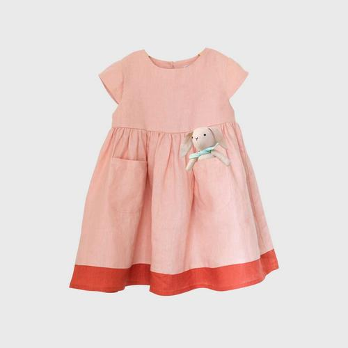 TINY MOON Lola Dress with PocketPal 2-3Y - Rose