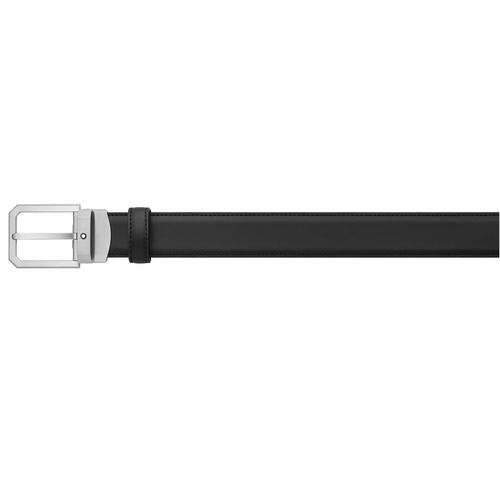 MONTBLANC Trapeze brushed stainless steel pin buckle Belt