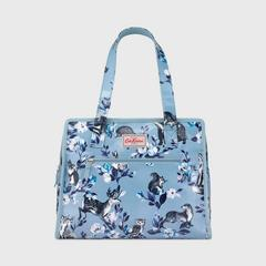 Cath Kidston Large Pandora Bag Badgers and Friends Grey Blue
