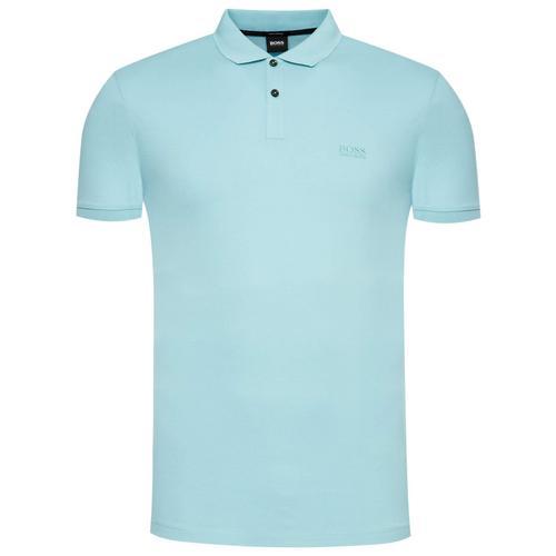 服装HUGO BOSS Pallas Pique Polo (Blue) Size S