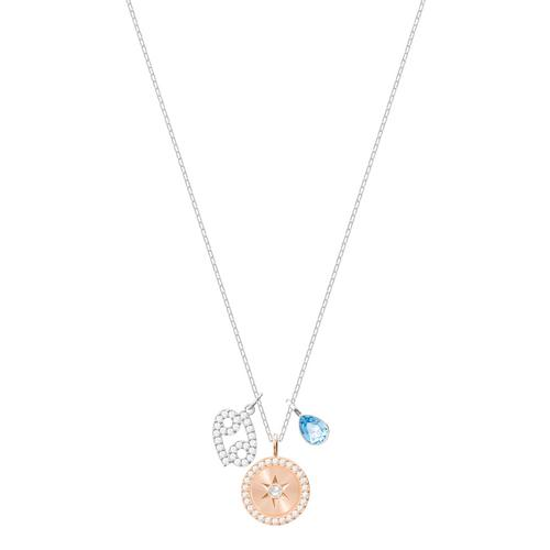 SWAROVSKI Zodiac Pendant, Cancer, Aqua, Rhodium plating
