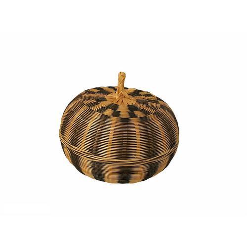 Borriboon - Small Bamboo Handcraft Box Luke-In Size M, Black/Natural
