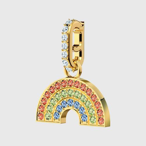 SWAROVSKI Remix Collection Rainbow Charm, Light multi-colored, Gold-tone plated