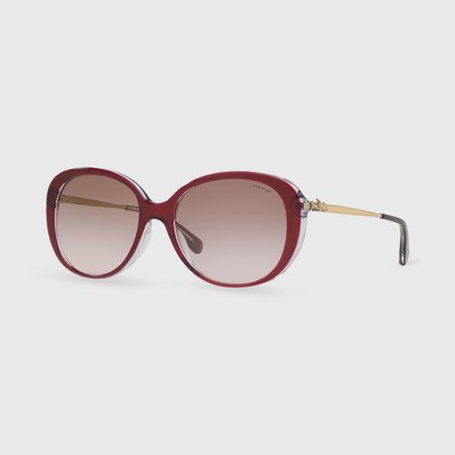 COACH Red Brown Pink Gradient Woman Sunglasses
