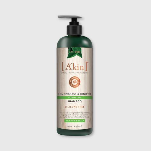 A'KIN Lemongrass & Juniper Purifying Shampoo 500 ML.