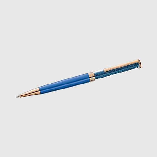SWAROVSKI Crystalline Ballpoint Pen, Blue, Rose-gold tone plated