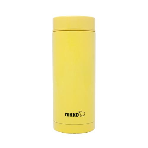 NIKKO Stainless Steel Vacuum Bottle 350 ml. SMS - Yellow