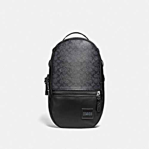 COACH Signature Pacer Backpack - JI/Charcoal