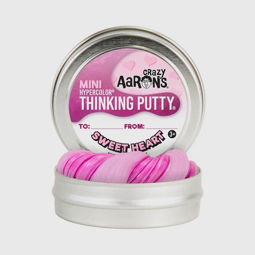"""CRAZY AARONS - Thinking Putty Mini Sweet Heart (Tin Size 2"""")"""