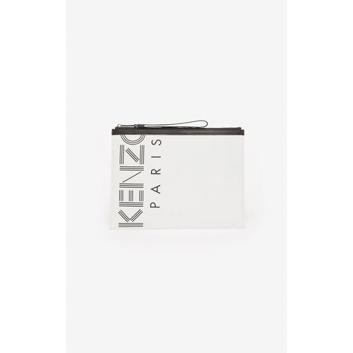 KENZO MEN CREW LARGE POUCH - OFF WHITE