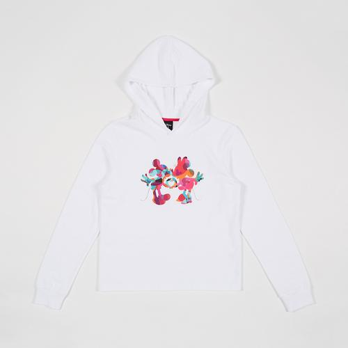 Disney Teen Women SweatShirt Mickey White-XS