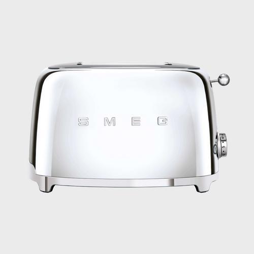 SMEG 2-Slice Toaster 50's Retro style Aesthetic TSF01SSEU - Polished Steel