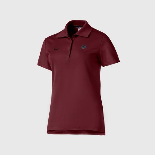 PUMA Women's  Polo Shirt W/Ferrari Vineyard Wine SIZE XS