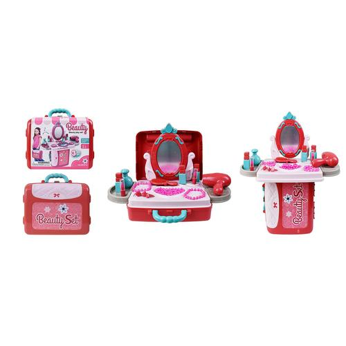 BB TOY  3 in 1 Green pocket kitchen with accessories.