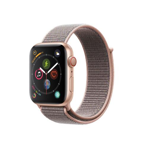 APPLE WATCH Series 4 GPS+Cellular 44mm Aluminum Gold Case with Pink Sand Sport Loop
