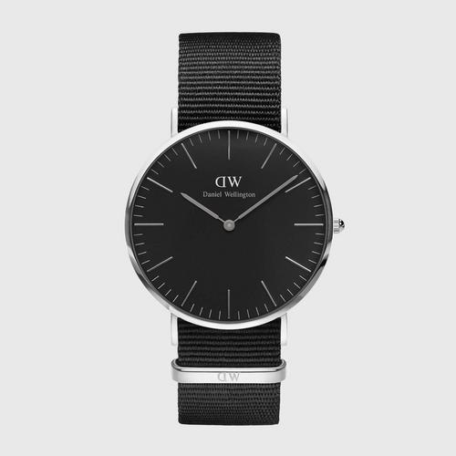 DANIEL WELLINGTON Classic Cornwall Black Silver 40mm