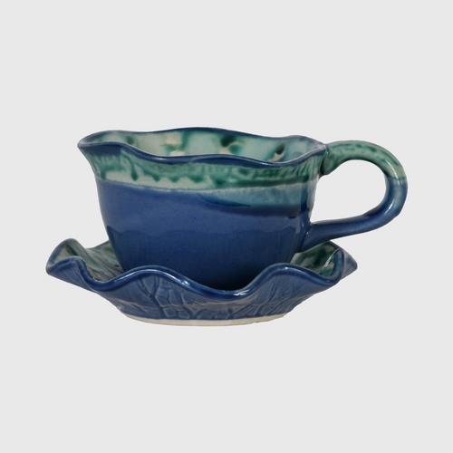 CHULABHORN  COFFEE MUG NAVY BLUE CE003