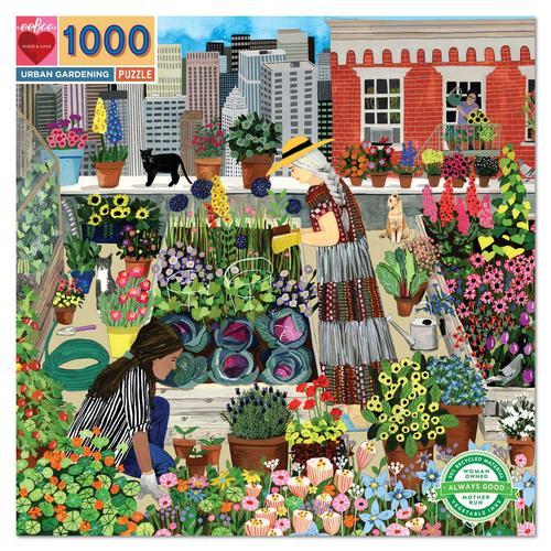 EEBOO - Urban Gardening 1000 Pc Sq Puzzle