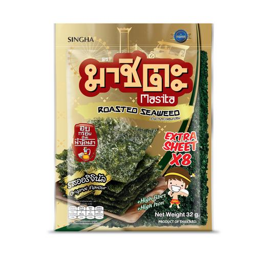 Masita Roasted Seaweed Extra Sheet 32 G Original Flavor