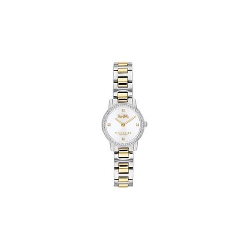 COACH 22mm Audrey Pave Siver Dial Watch