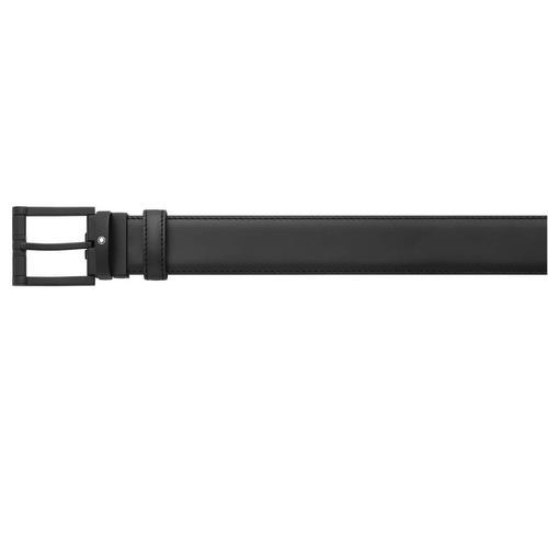 MONTBLANC Squared Matt Black PVD Pin Buckle Belt