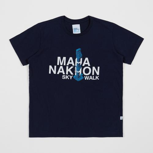 Mahanakhon SkyWalk 云顶大都图案T恤-藏青色- L码