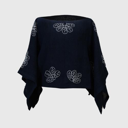 NINECHAIDEE - 2 in 1 hand embroidered cotton clothes Dark indigo