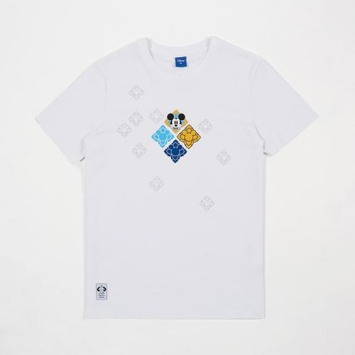 Disney Men T-Shirt Mickey White-M