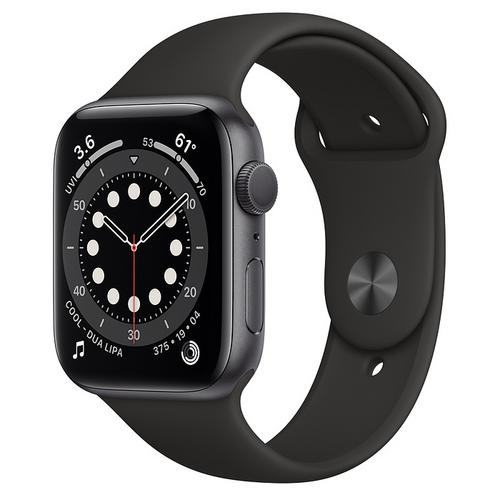 Apple Watch Series 6 (GPS) Space Gray Aluminum Case  with Black Sport Band(44mm)