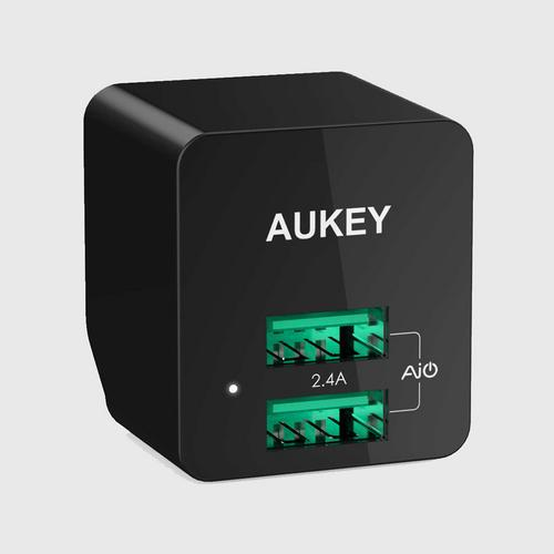 Aukey ULTRA COMPACT AiPower Adaptive Fast Charge 2 Ports PA-U32 BLACK
