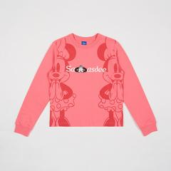 Disney Women SweatShirt Mickey-Sawasdee Pink-M