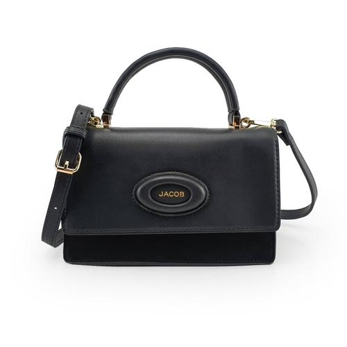 JACOB PU SHOULDER BAG(BLACK)